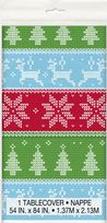 Christmas Ugly Sweater Plastic Table Cover